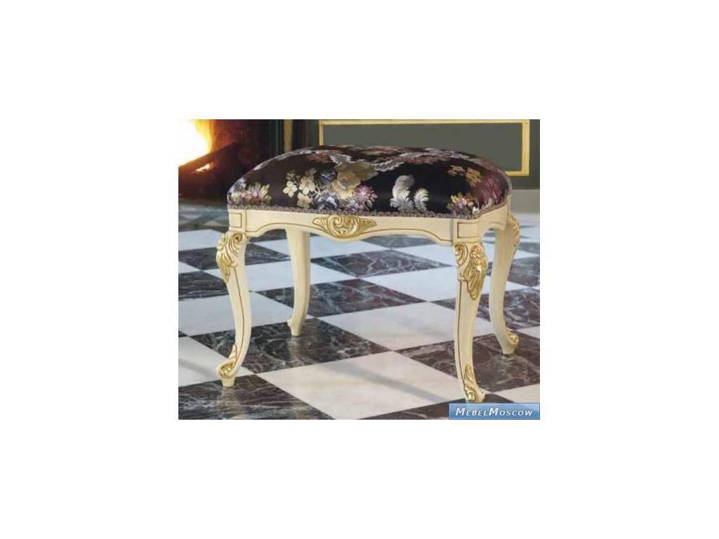 MobilPiu: Опера: пуф ткань (слоновая кость, золото)
