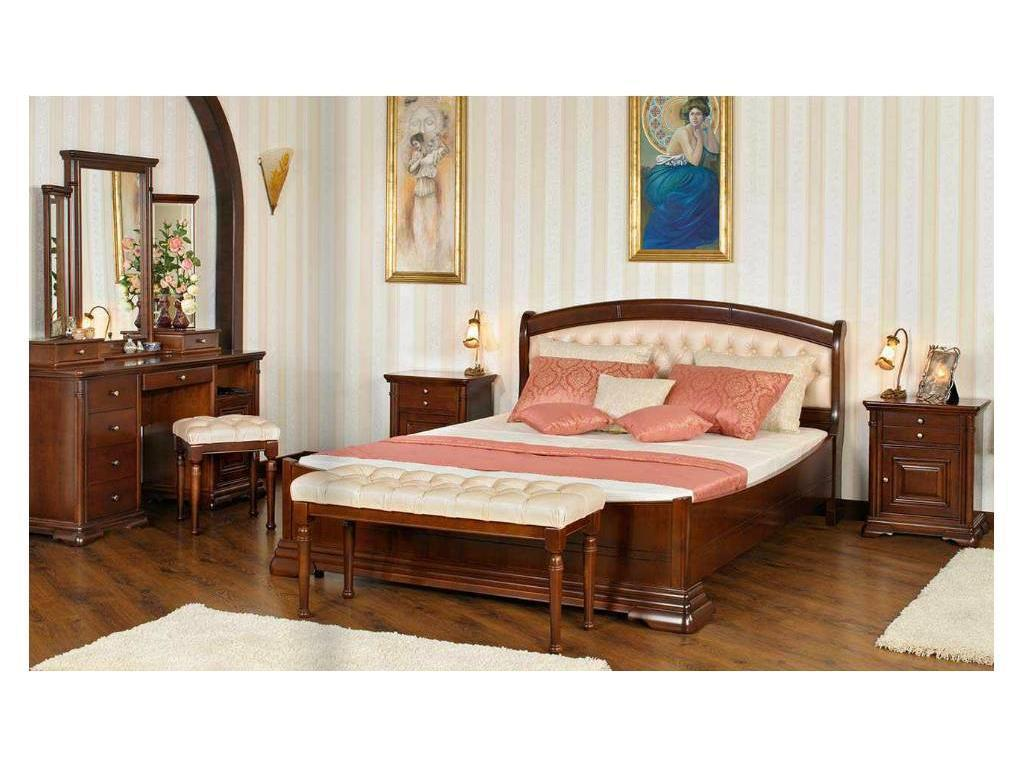 Mobex Мобекс: Элеганс: кровать 160х200 NT (орех,кожа 329/498)
