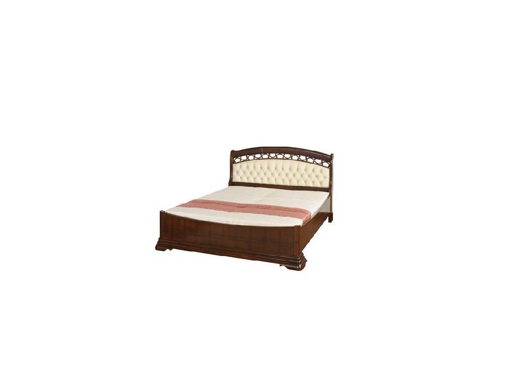 Mobex Мобекс: Элеганс: кровать 180х200 NTA (орех, кожа)