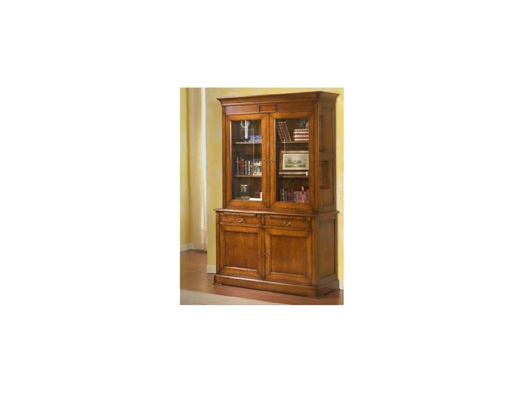 Provence Mobiliario: Rubi: витрина 2-х дверн. 2 ящ. Руби  (D manual patina,total lacquer)