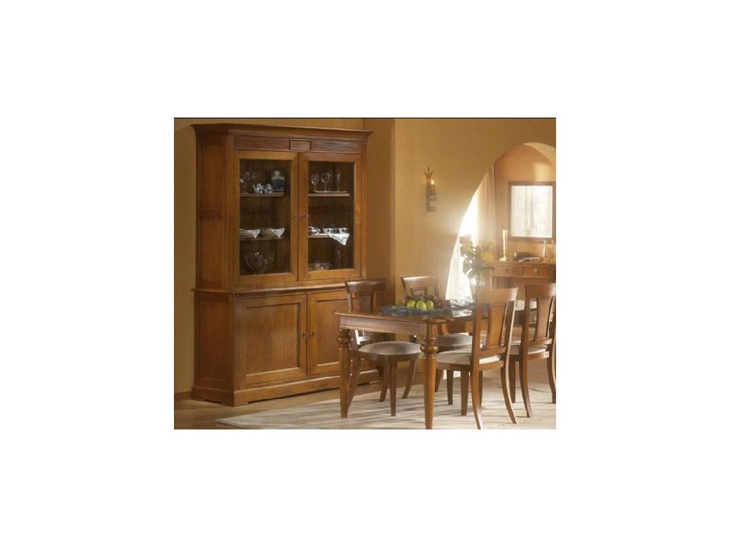 Provence Mobiliario: Rubi: витрина 2-х дверная Руби  (D manual patina,total lacquer)