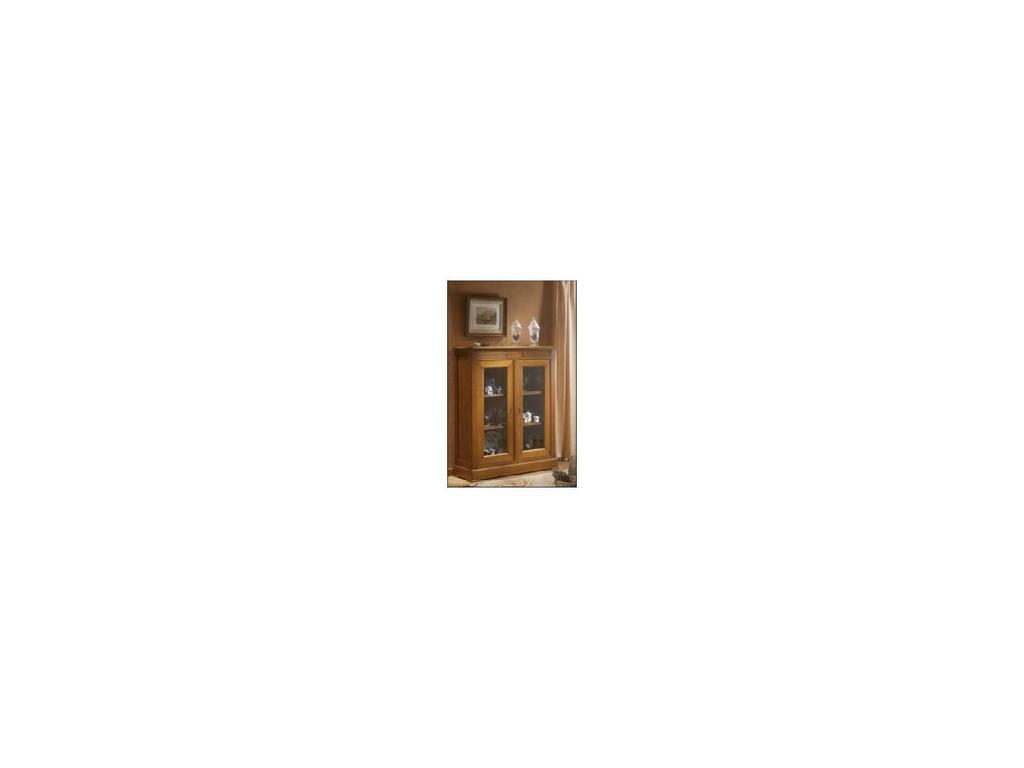 Provence Mobiliario: Rubi: витрина 2-х дверная Руби низкая  (D manual patina,total lacquer)