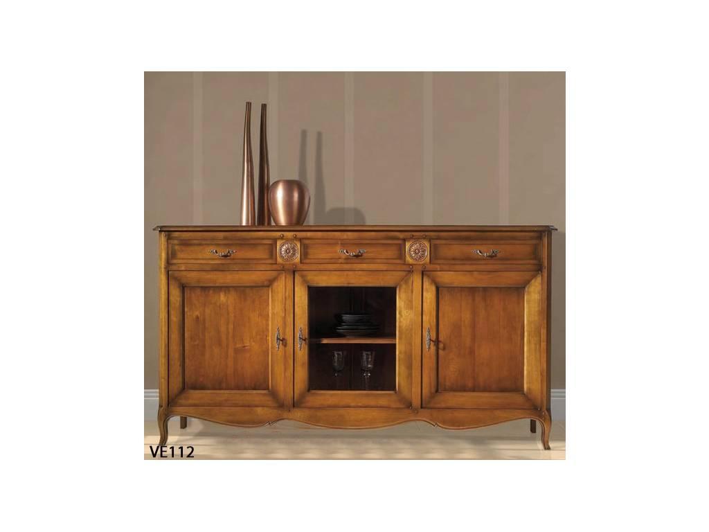 Provence Mobiliario: Versalles: комод 3-х дверный Версаль  (D manual patina,total lacquer)