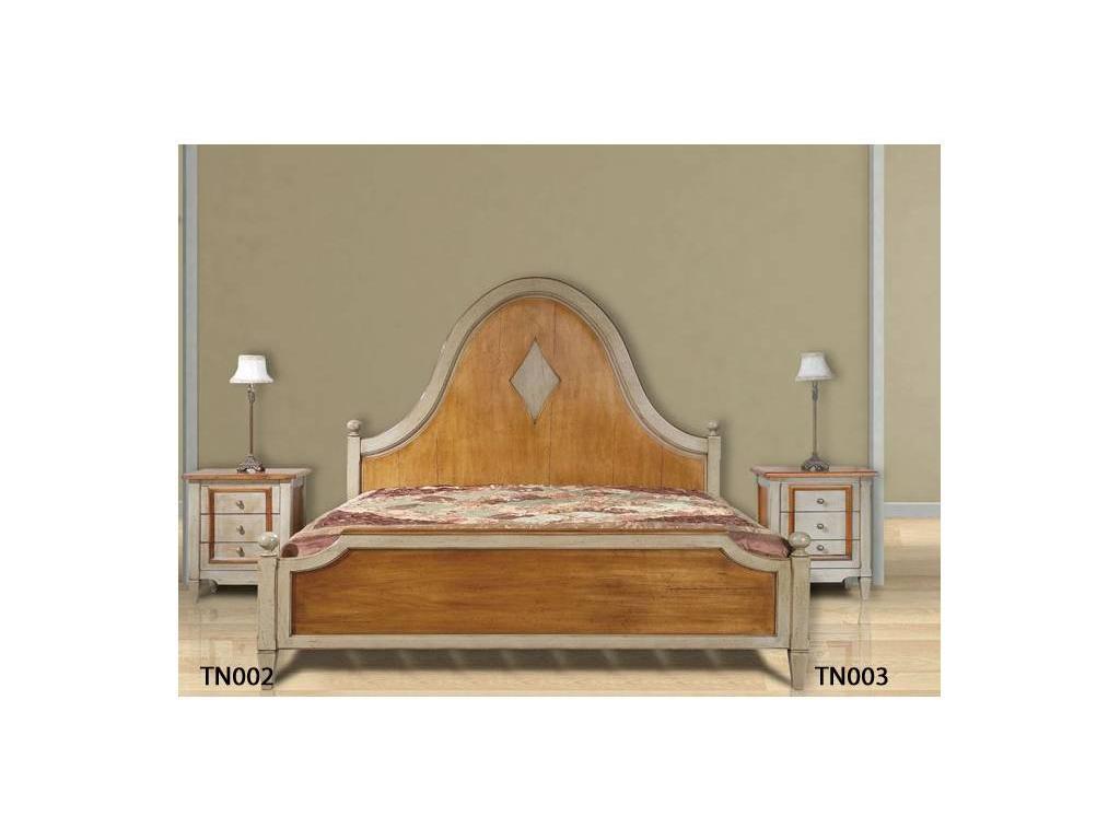 Provence Mobiliario: Tendresse: кровать 150х195 Тендресс  (D manual patina,total lacquer)
