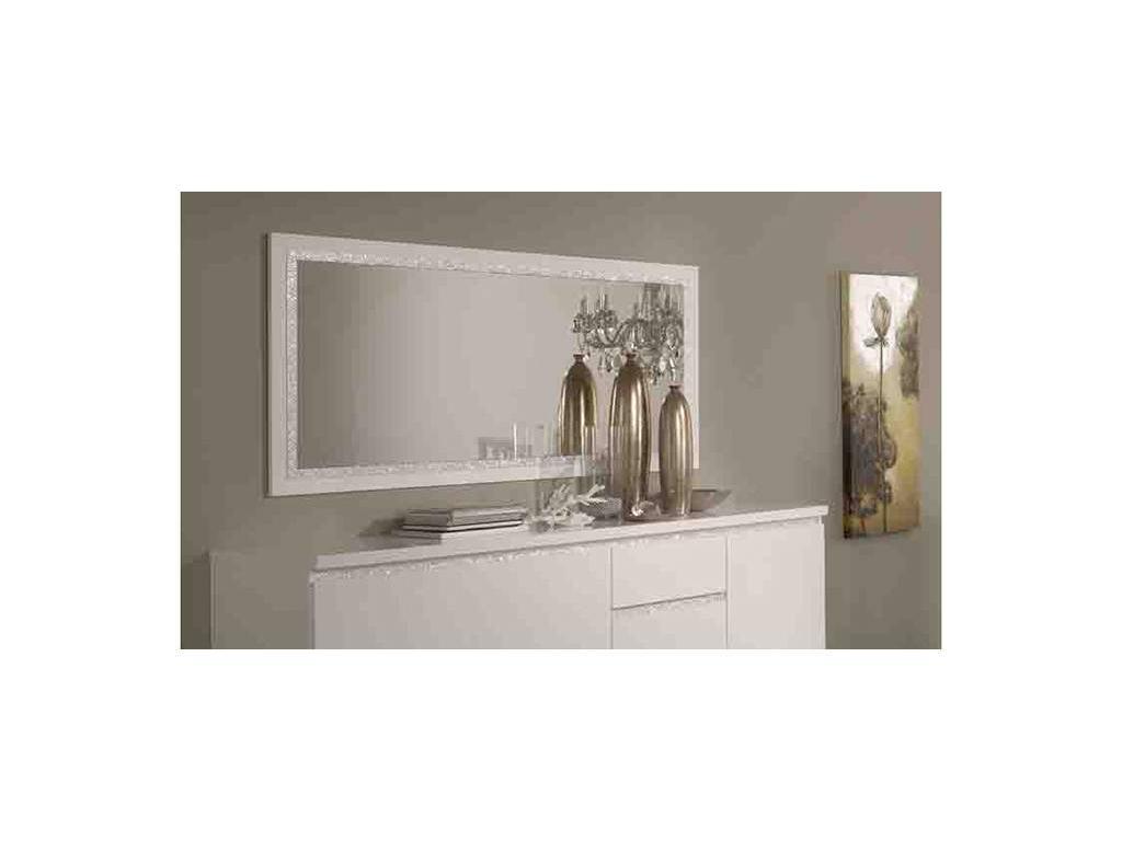 Mobilifiсio Мобилфицио: Roma cromo: зеркало настенное (белый лак)