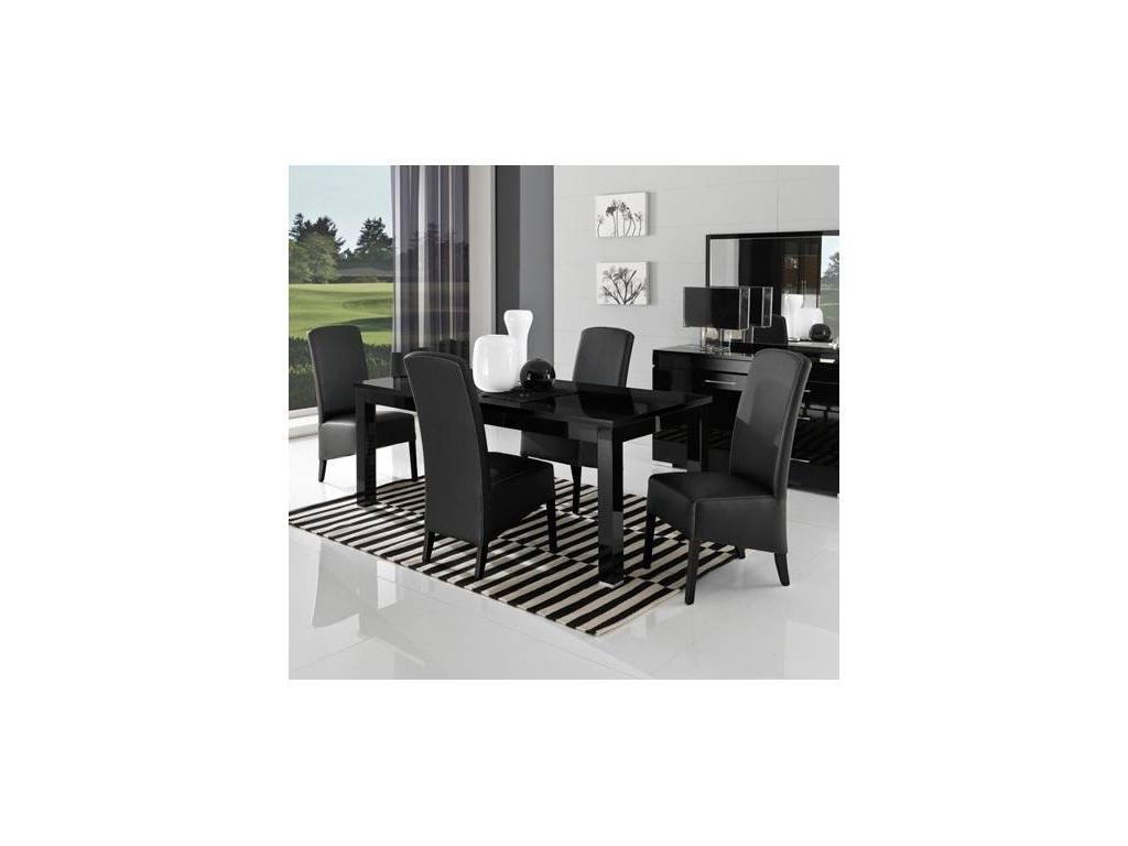 Poly: Kristel: стол обеденный (черный) лак