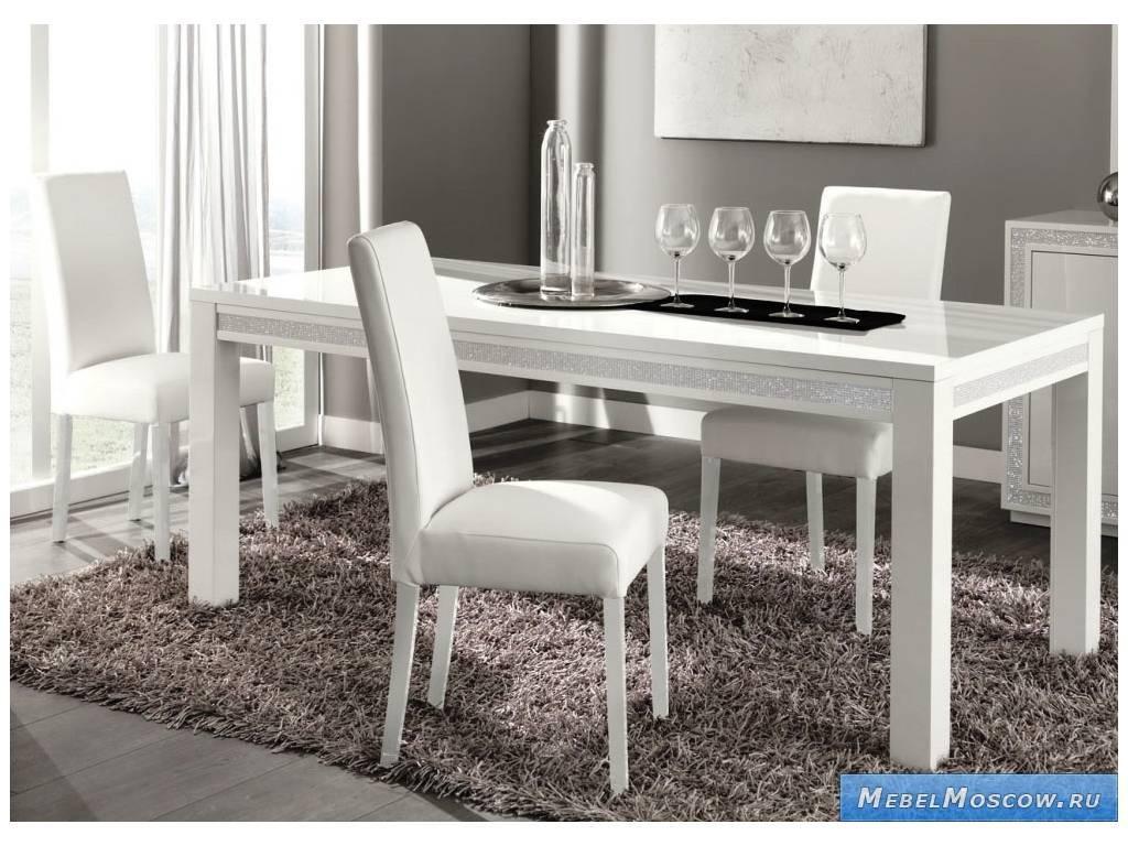 Poly perla стол обеденный белый лак