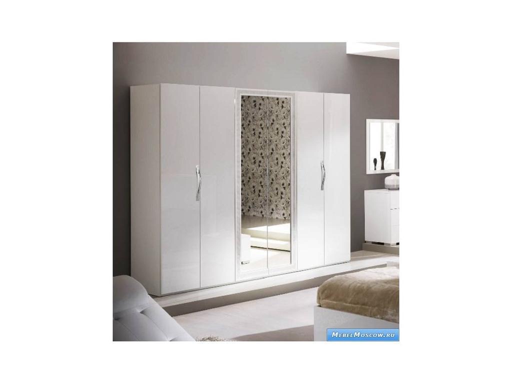 Poly: Cleo: шкаф 6-и дверный (белый лак)