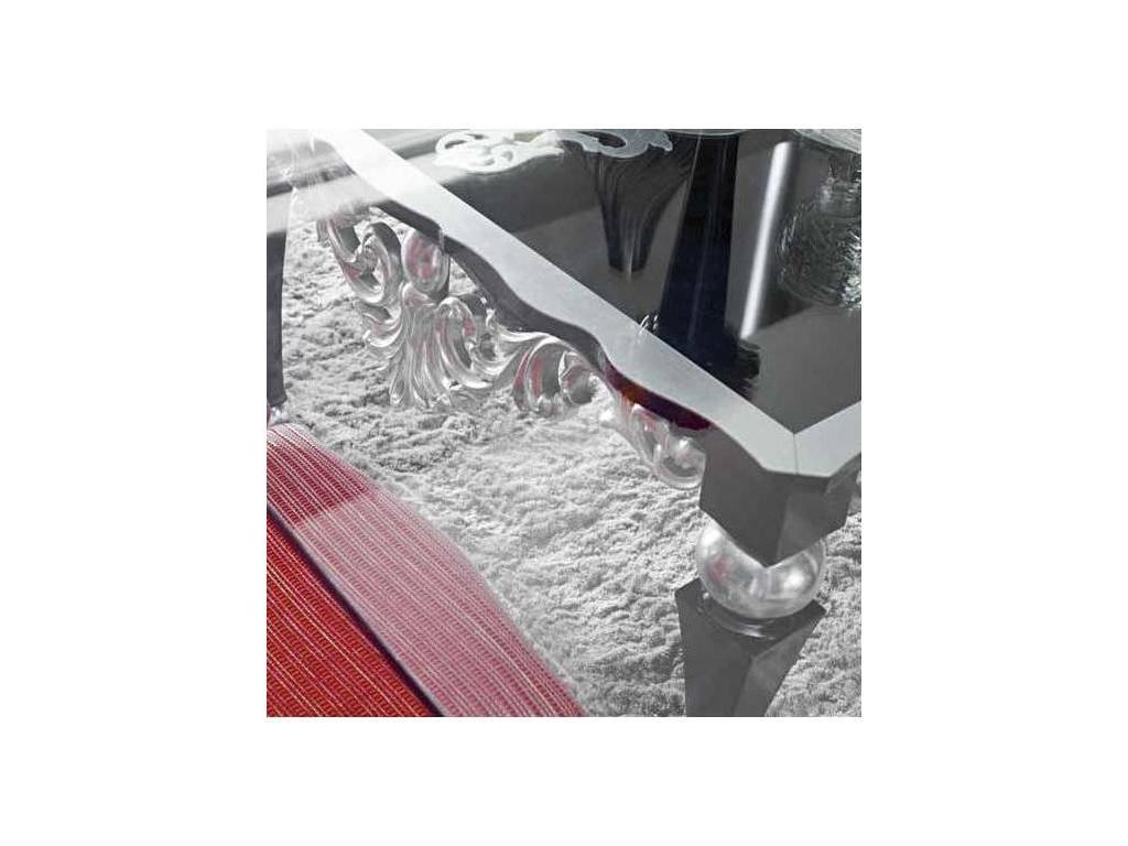 Jetclass: Florence: стол обеденный  (черный, серебро)