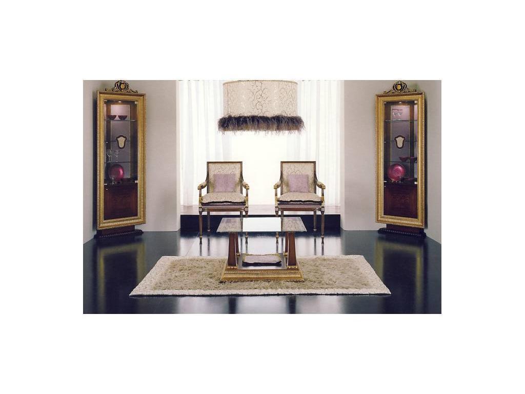Alta Moda Альтамода: Ательер: стол журнальный  ткань (венге, серебро, беж, золото)