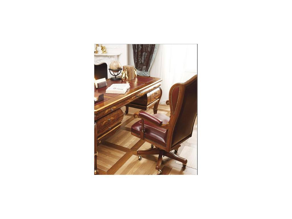 Grilli Грилли: Рондо: кресло вращающееся  (орех) кожа cat.A