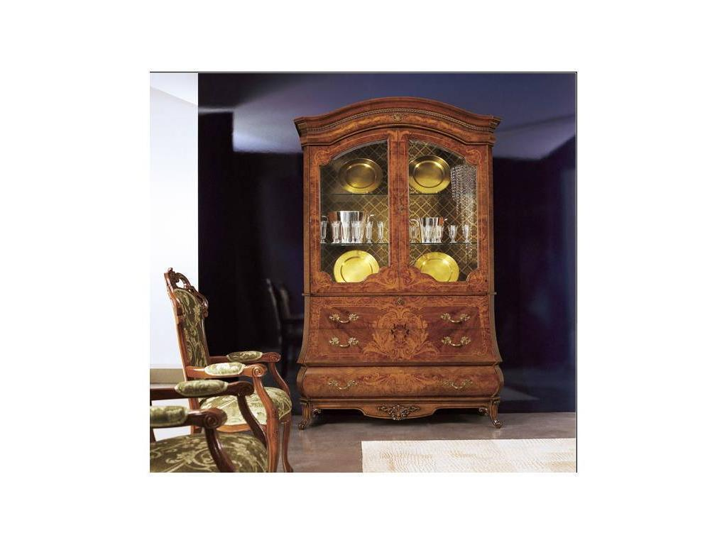 Grilli Грилли: Рондо: витрина-бюро 2-х дверная  (орех)