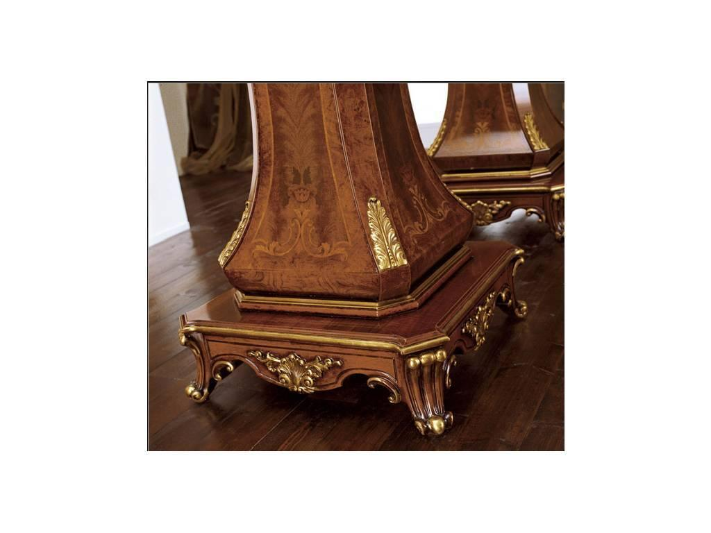 Grilli Грилли: Рондо: стол обеденный раскладной  (орех, серебро)