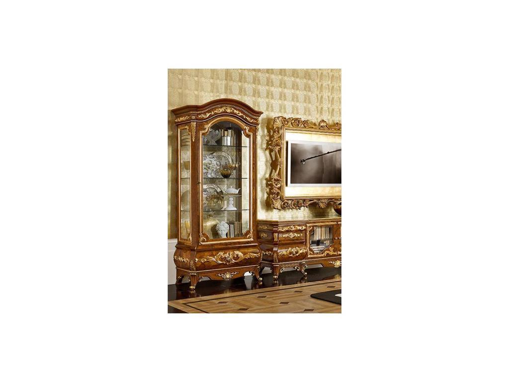 Grilli Грилли: Версаллес: витрина 1 дверная  (орех, позолота)