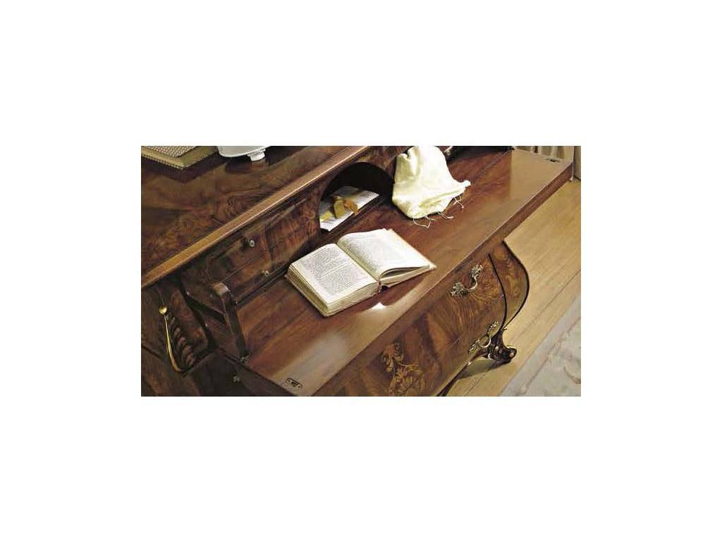Signorini Coco: Monreale: комод 4 ящика  (корень оливкового ясеня с инкрутацией)
