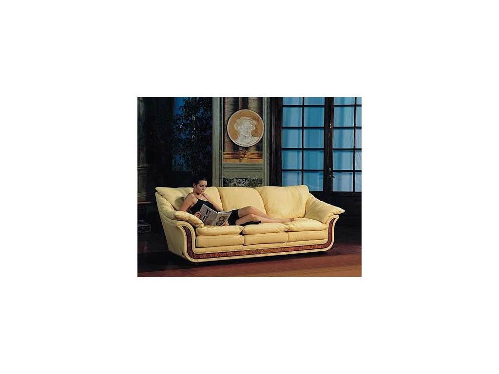 Nieri: Cornice: диван 3-х местный раскладной кожа кат. Extra (LUXOR 9400 R 28 LUC)