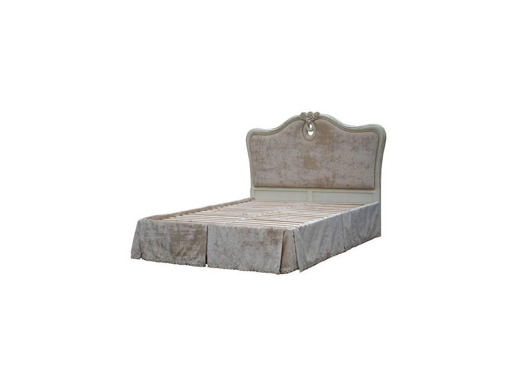 Vaoro: Dolce Rosa Дольче Роза: кровать 180х200 без ткани на каркасе  (слоновая кость)