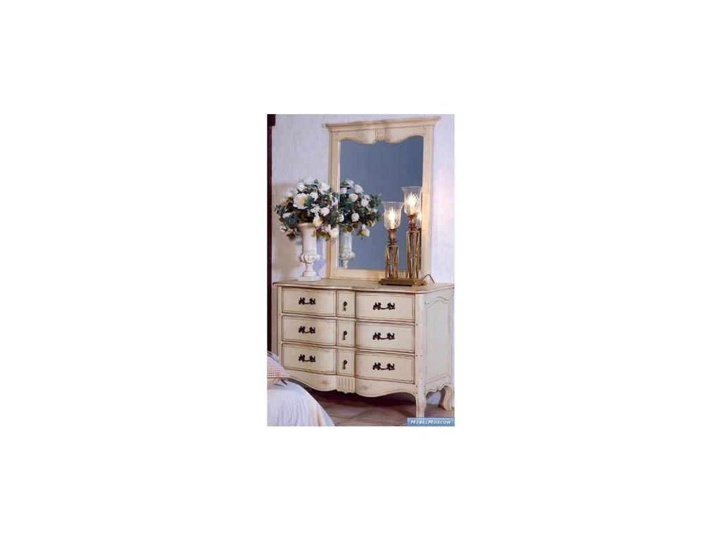 Vaoro: Provence: зеркало в деревянной раме  (слоновая кость)