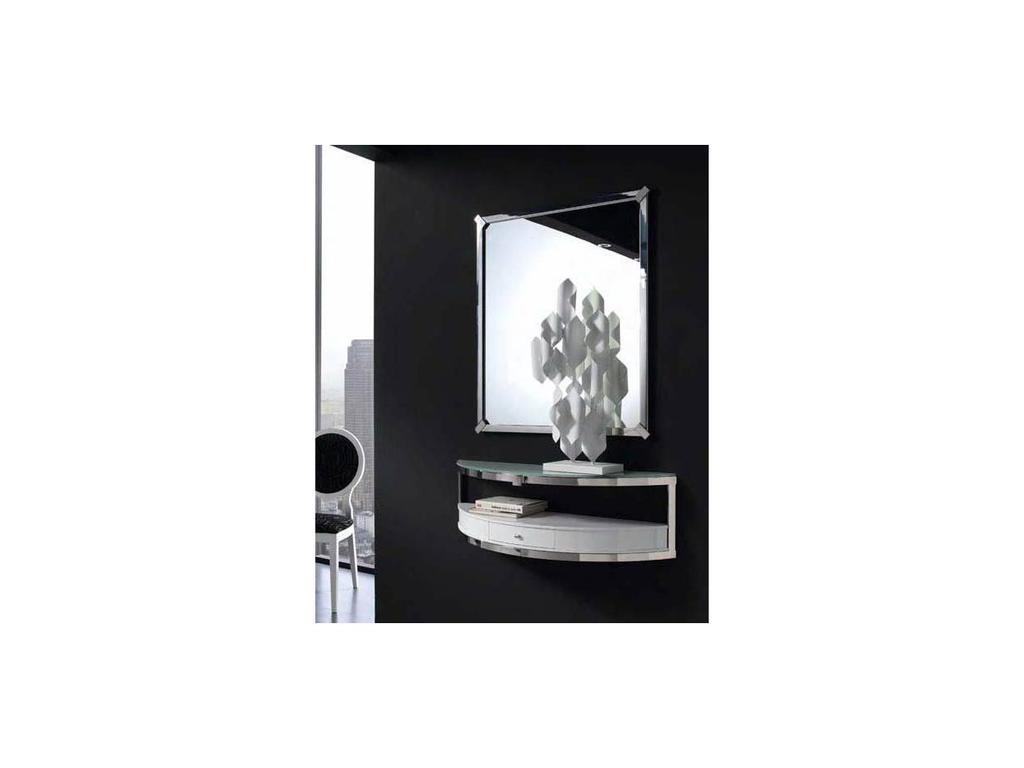 Anzadi Анзади: Gondola: консоль с зеркалом Гондола  (белый, сталь)