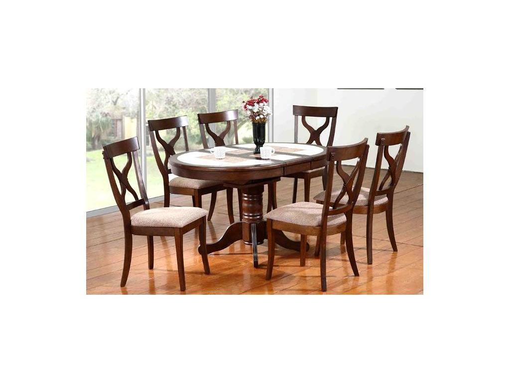 GL: MANILA: стол обеденный  (темный дуб)