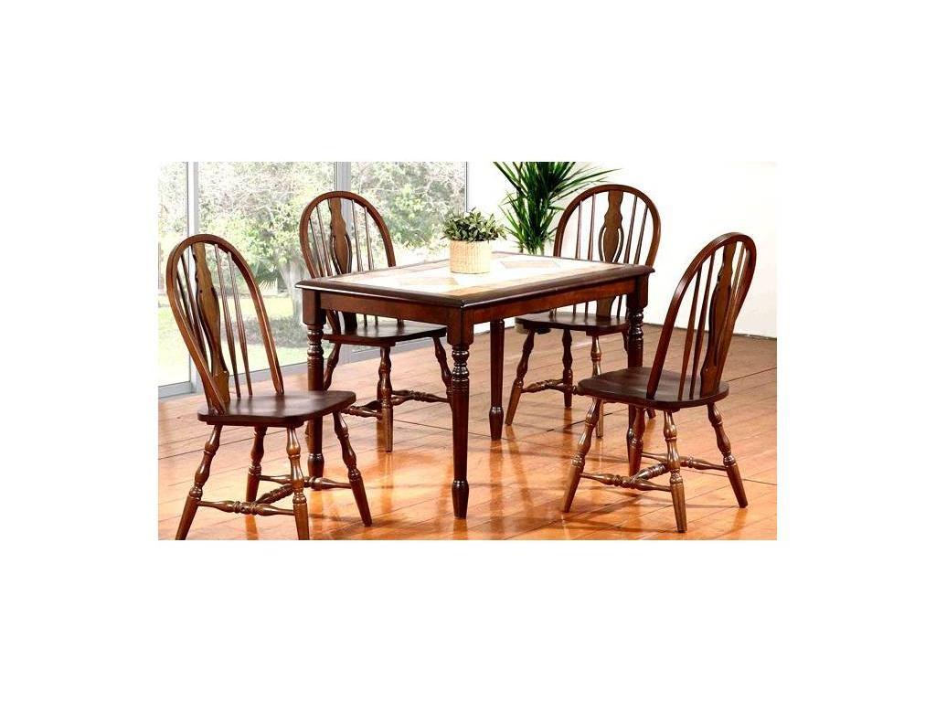 GL: стул  (темный дуб/крем)