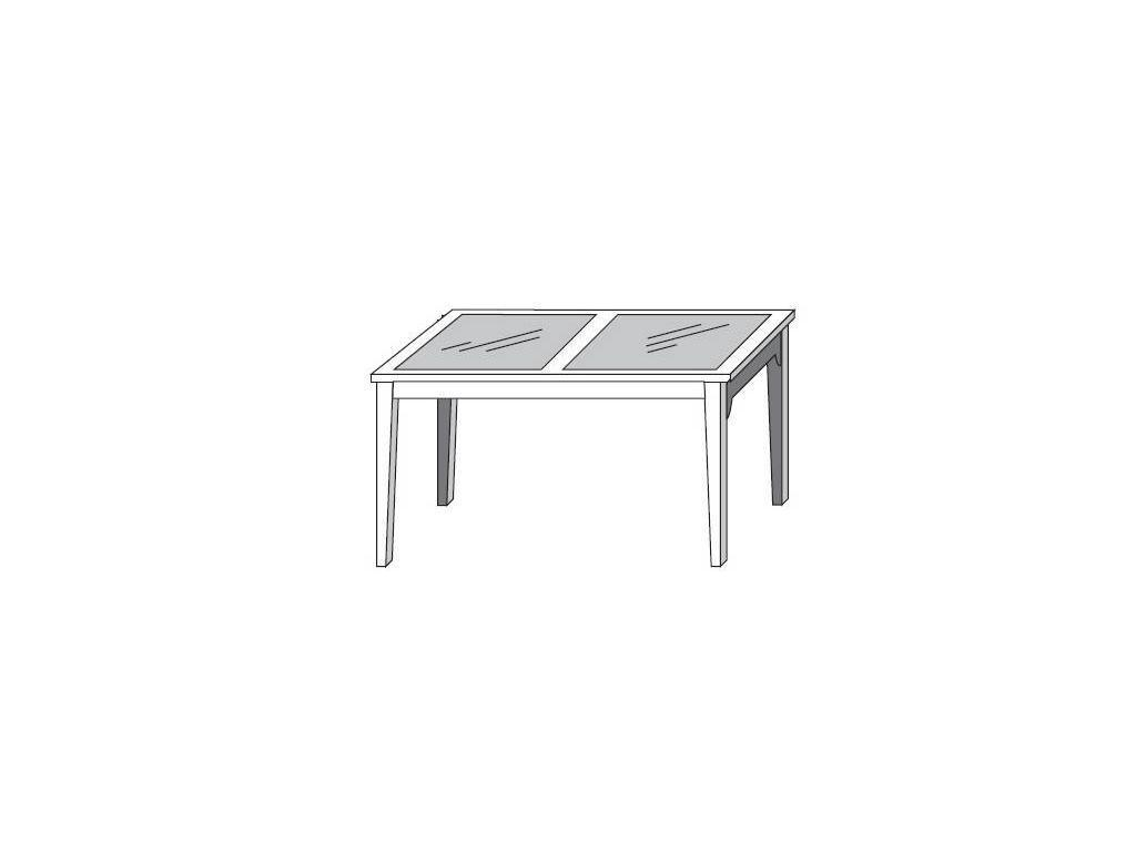 Grupo Seys: Fontana: стол обеденный раскладной  (lino, miel patinado)