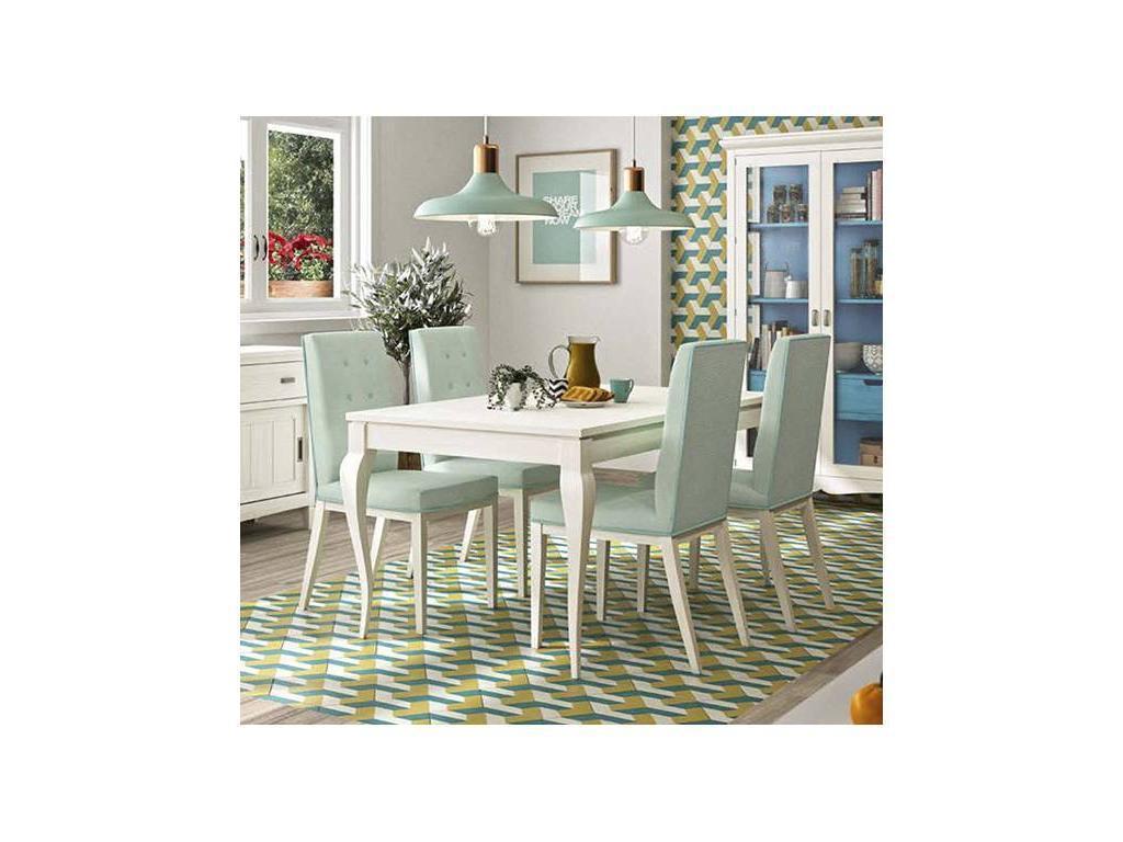 Grupo Seys: Mediterraneo: стол обеденный раскладной  (blanco decape)