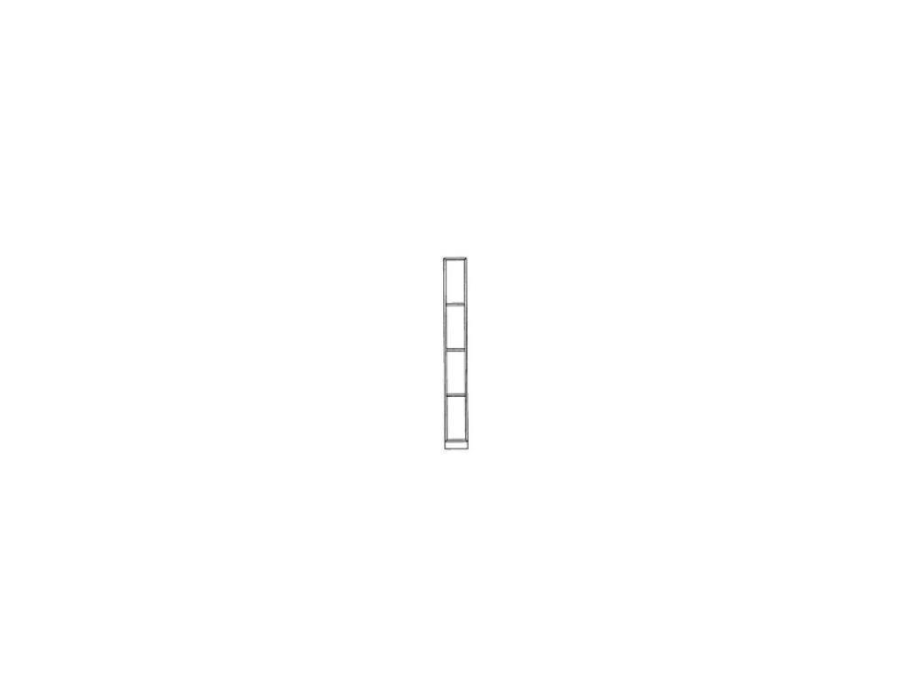 Monrabal Chirivella: Anabel: полка навесная  вертикальная (roble)