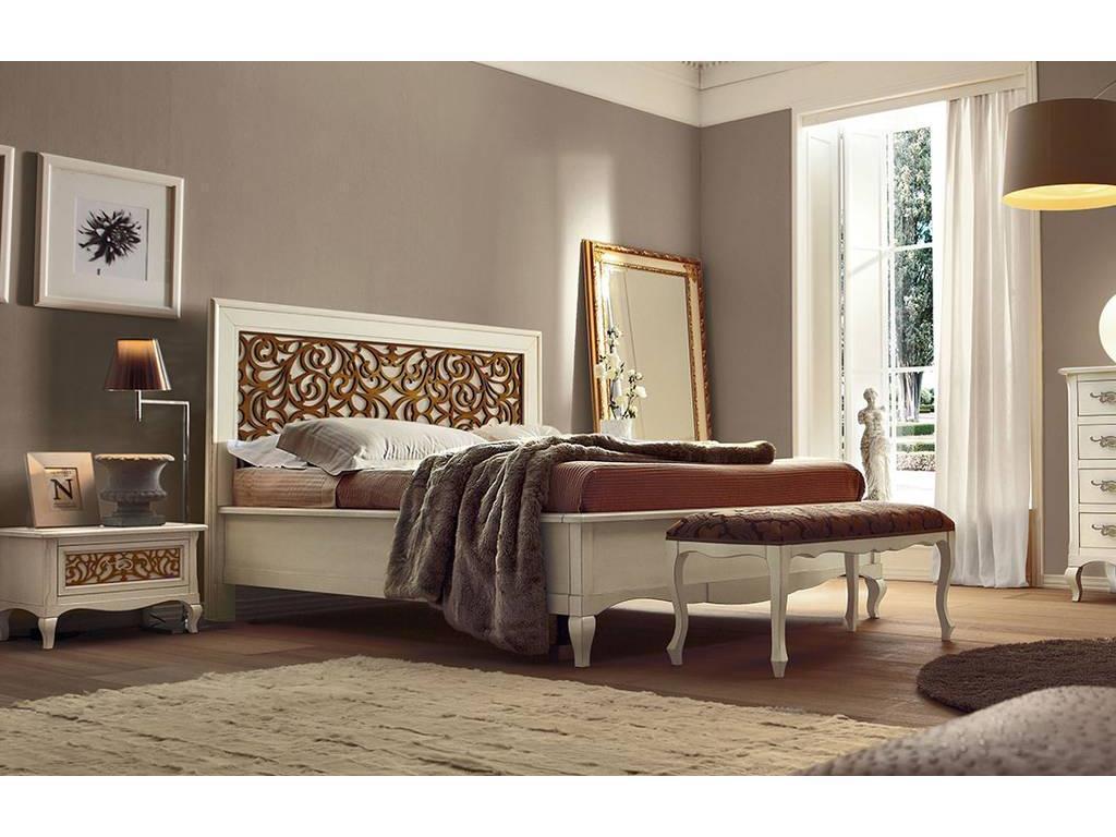 V. Villanova: Капри: кровать двуспальная 160х200  (белый, черешня)