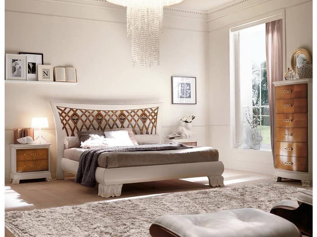 V. Villanova: Riva: кровать двуспальная 160х200  (белый, черешня)