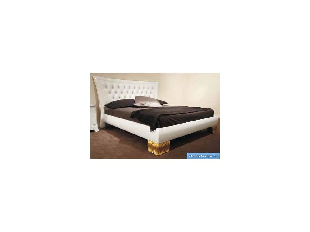 V. Villanova: Riva: кровать двуспальная 160х200  (белый, золото)
