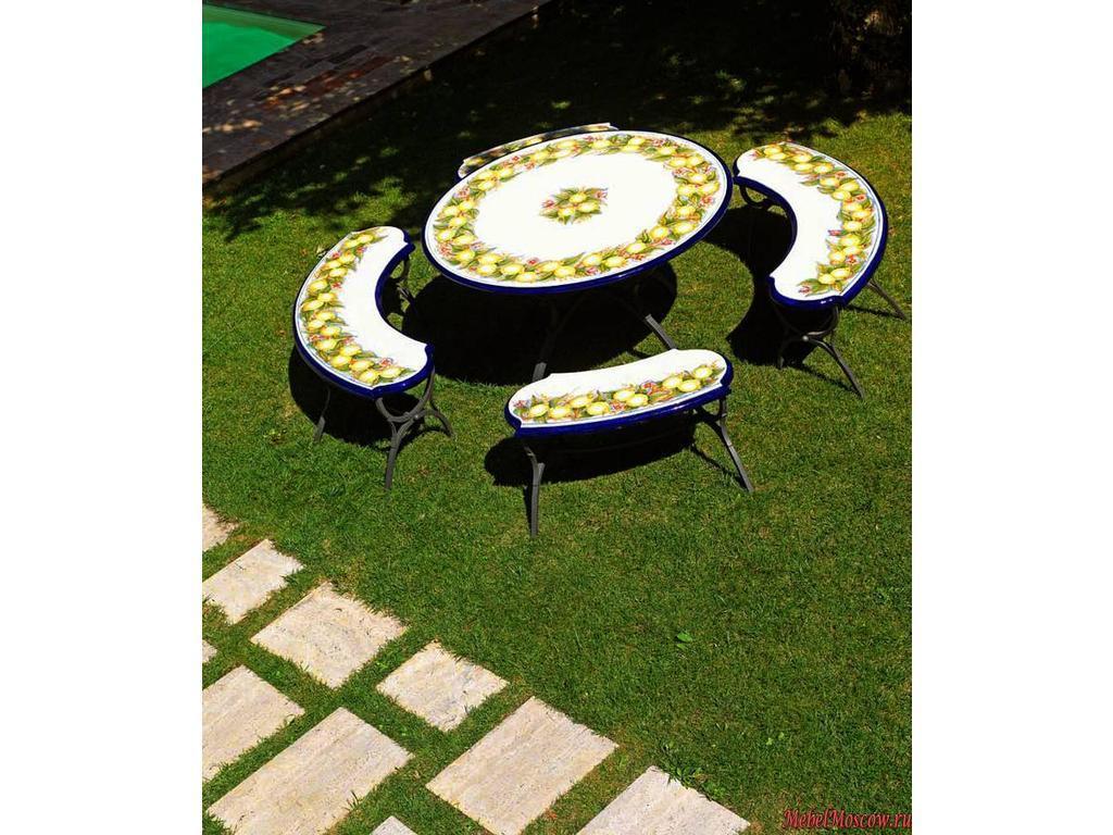 Ceramicarte sorrento стол обеденный круглый