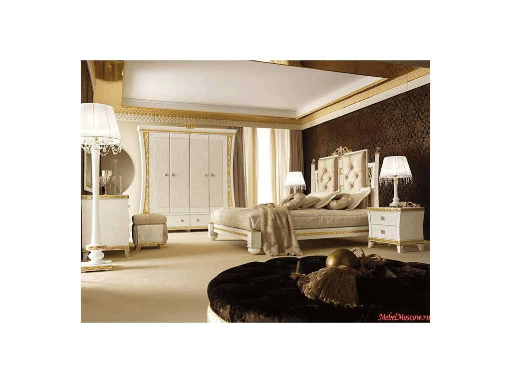 Gotha: Gold and Diamonds: кровать 180х200 King siz  с периметром и мягким изголовьем