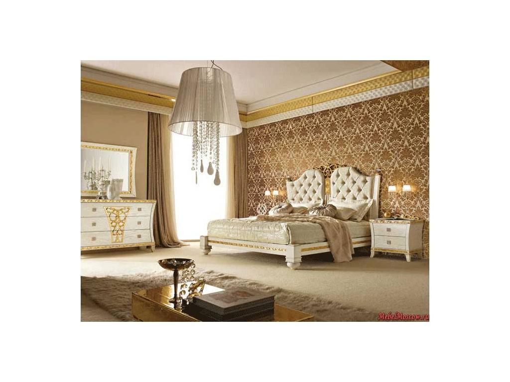 Gotha: Gold and Diamonds: кровать 180х200 King siz  с периметром и обитой центральной панелью