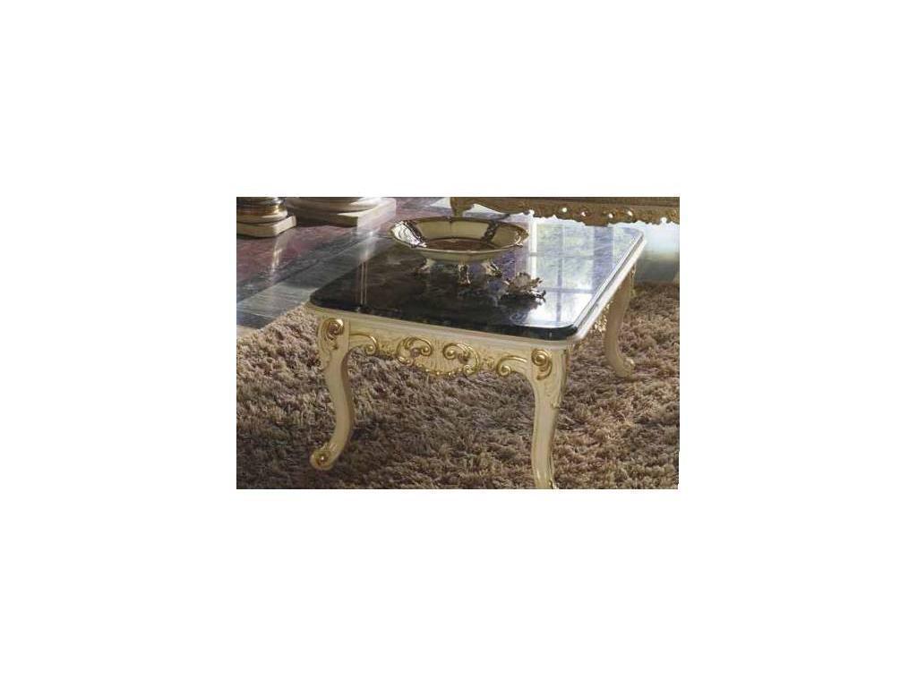 MobilPiu: Опера: стол журнальный (слоновая кость, золото)