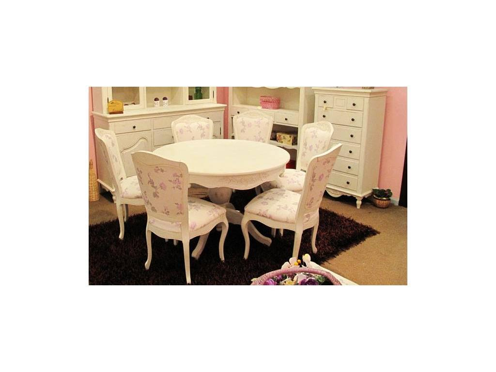 Mobex: Lavanda: стол обеденный круглый (белый)