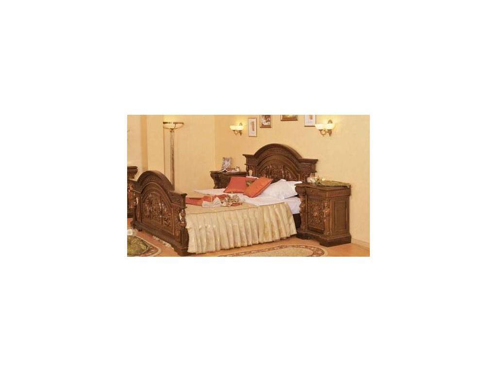 Mobex: Florenta: кровать 180х200 Флоренция (орех)
