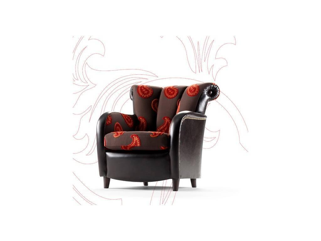 Tecni nova: Argento: кресло  (ткань Serie 7, кожа Serie 15)