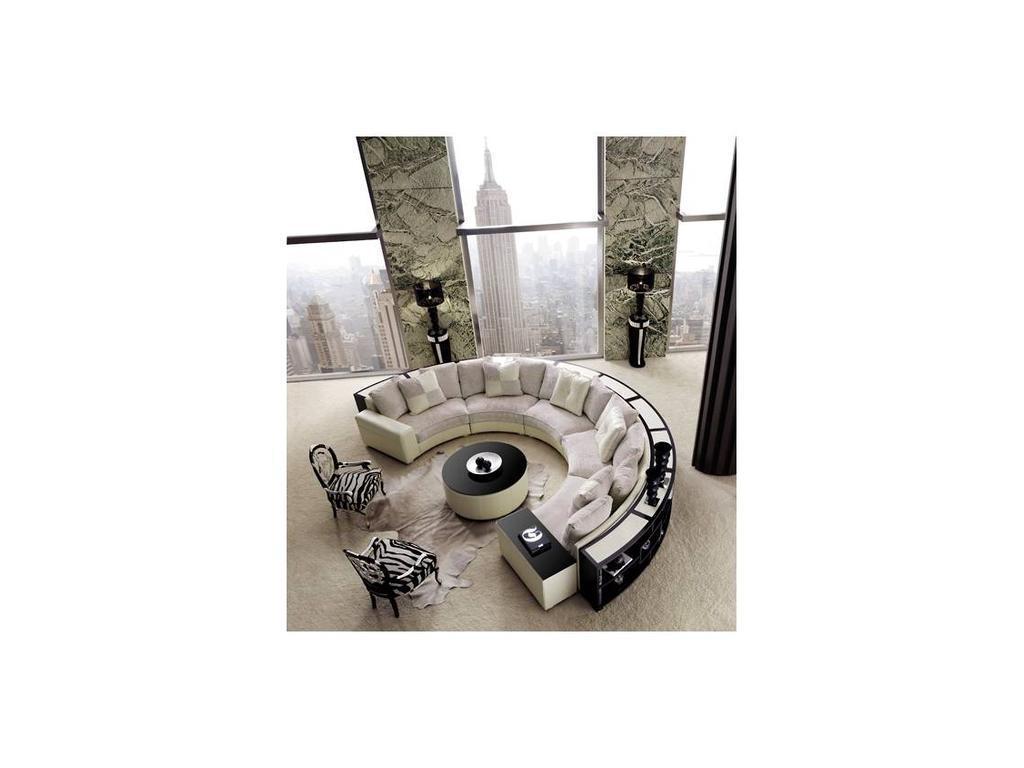 Tecni nova: Glamour: диван эркерный ткань, кожа