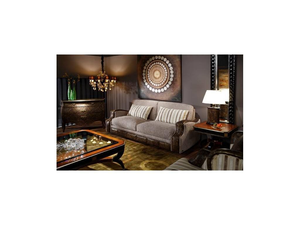 Tecni nova: Glamour: диван 3-х местный 2,30 ткань, кожа