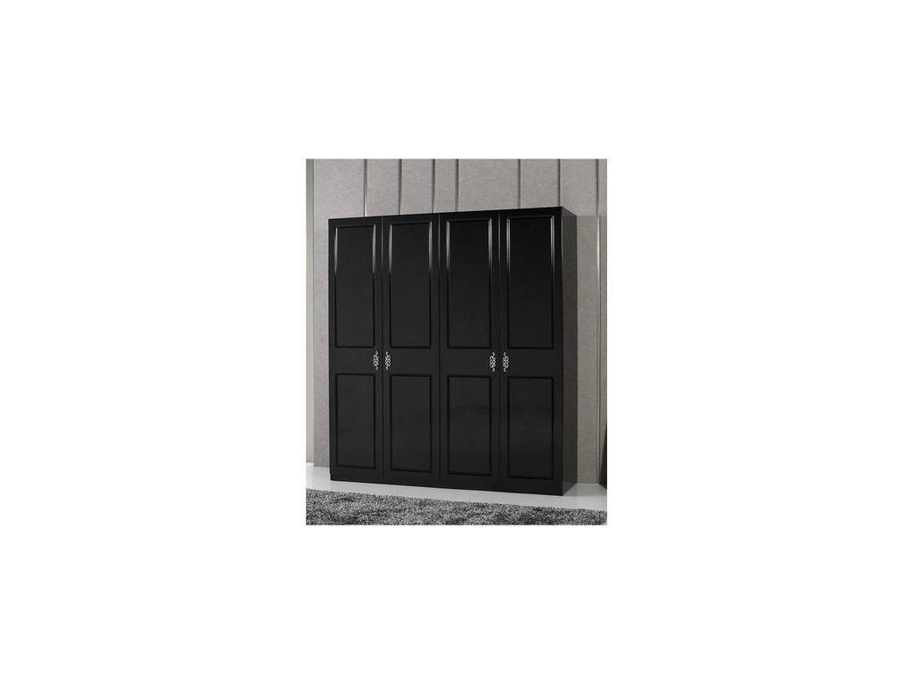 Fratelli Barri: Belluno: шкаф 4-х дверный  (черный лак)
