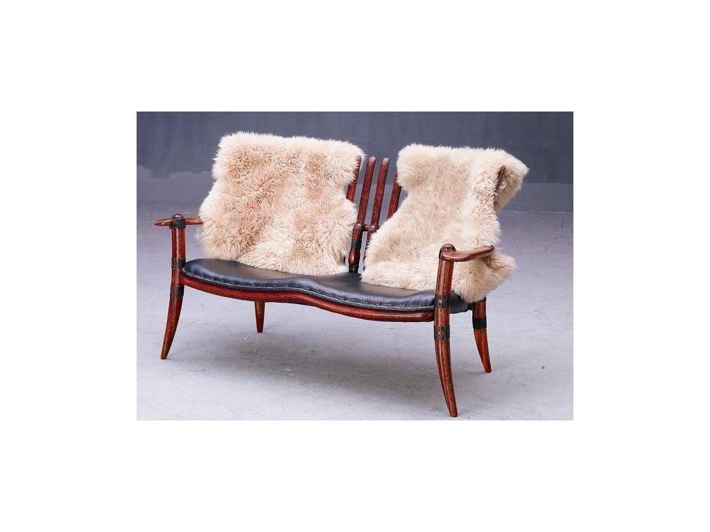 Pacific Green: Mendi: диван 2-х местный кожа+накидка