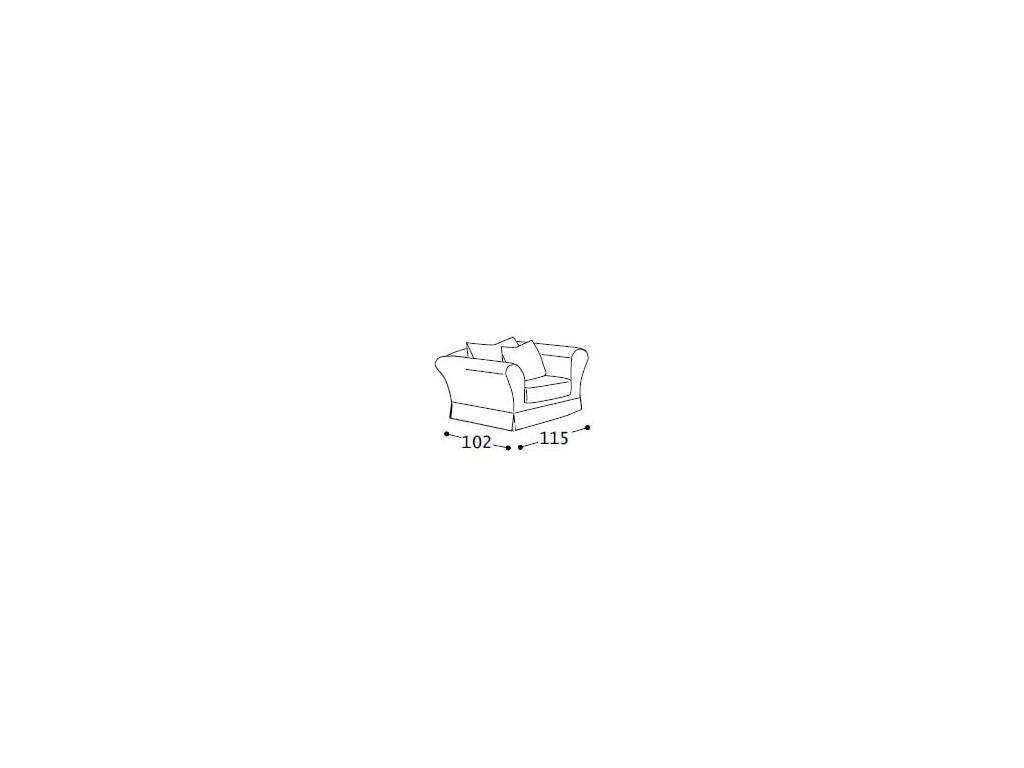 Alberta: Dafne: кресло  ткань cat 3