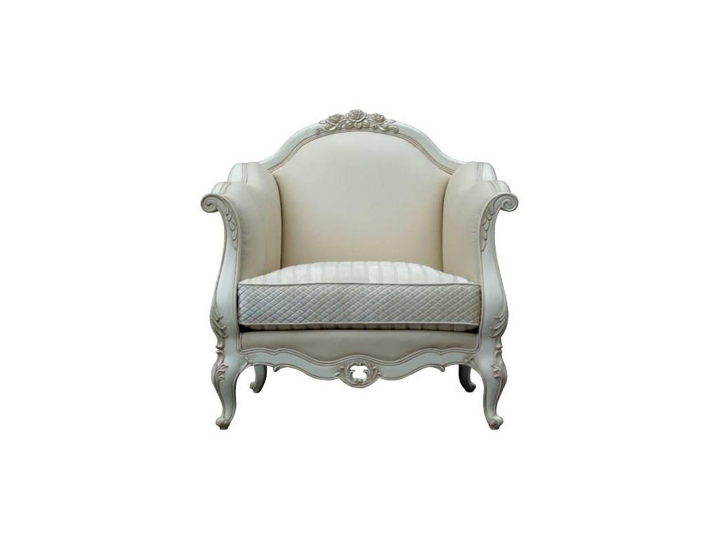 Vaoro: Dolce Rosa Дольче Роза: Лео: кресло  (слоновая кость)