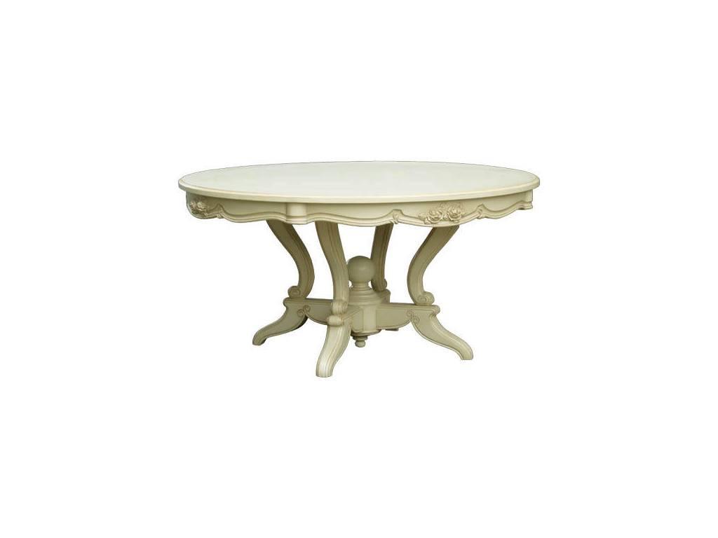 Vaoro: Dolce Rosa: стол обеденный  (слоновая кость)