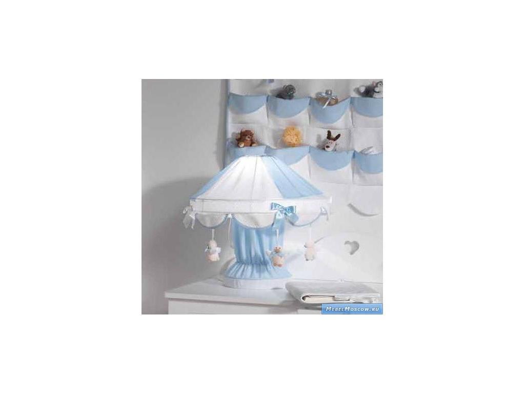 Marina Dal Santo: Bellini Azzurro: лампа настольная  (белый, голубой)