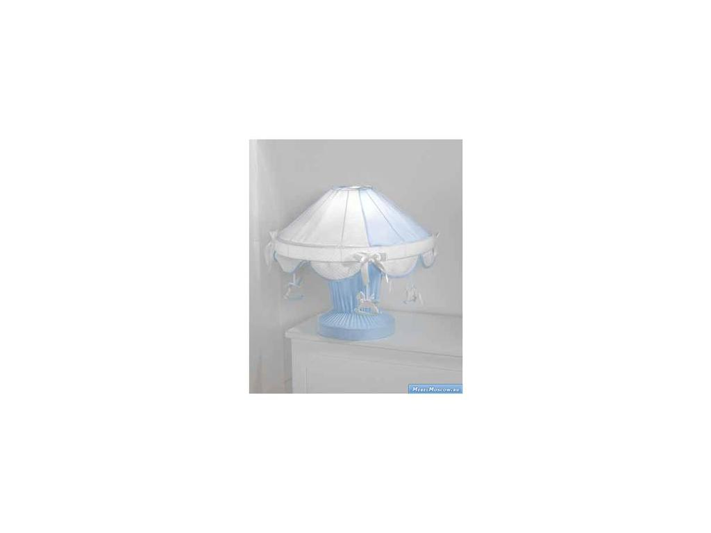 Marina Dal Santo: Florian Azzurro: лампа настольная  (белый, голубой)