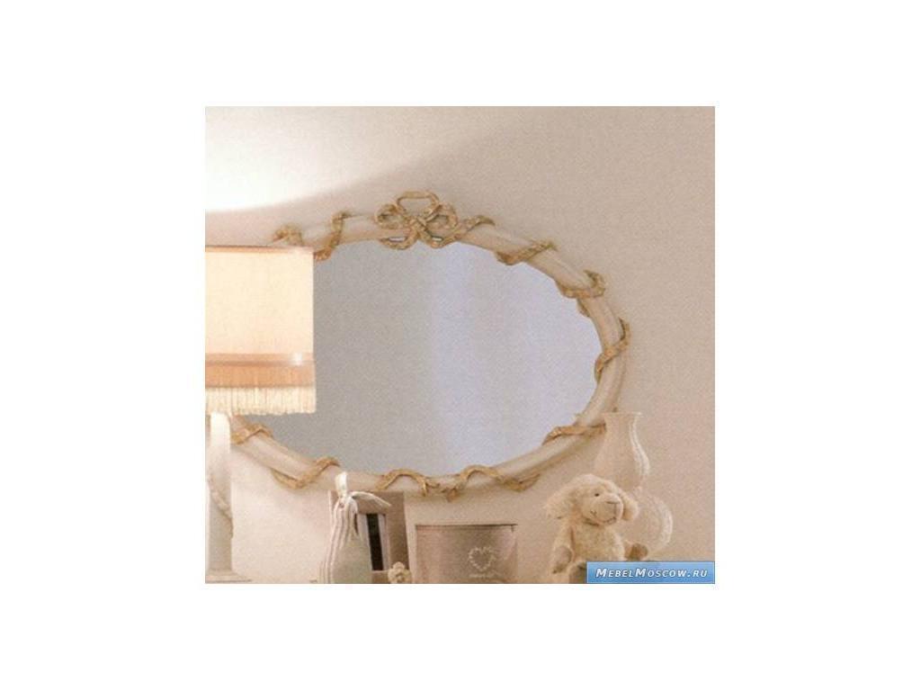 Frari: Fiocco Bebe: зеркало для комода  (слоновая кость с золотом)