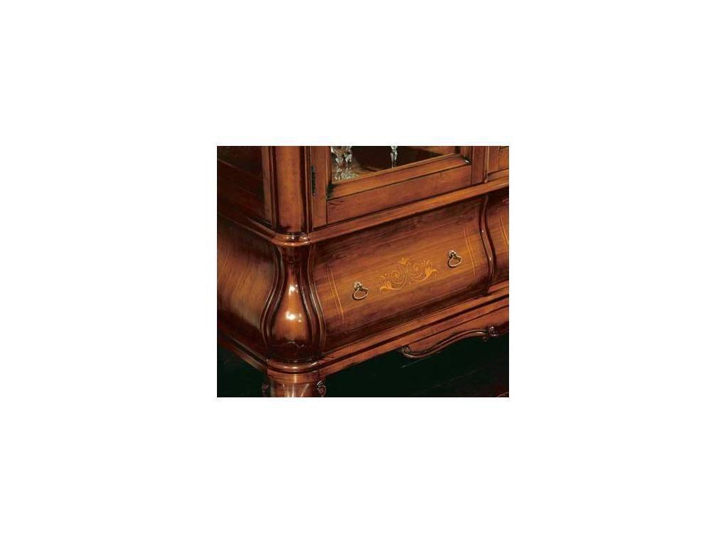 Tarocco Vaccari: Tulipano: витрина 3-х дверная  (орех, золото)
