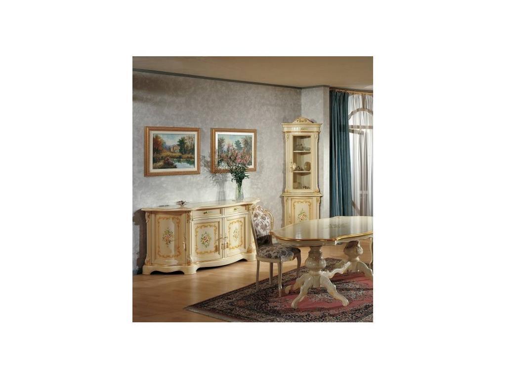 Tarocco Vaccari: Luxury: прилавок  4-дверный (крем, роспись)